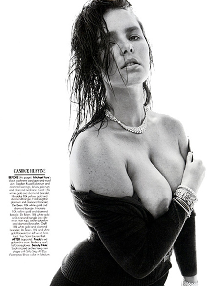 Candice Huffine in W Magazine