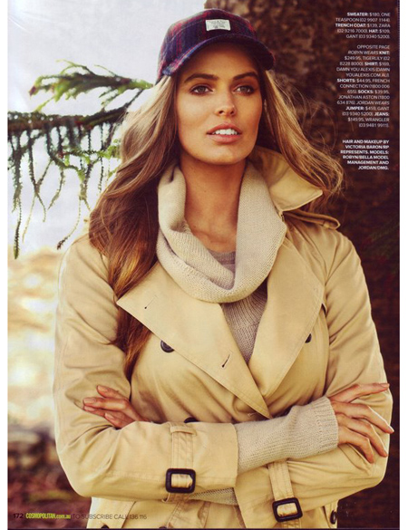 Robyn Lawley in Cosmopolitan AU, April 2012