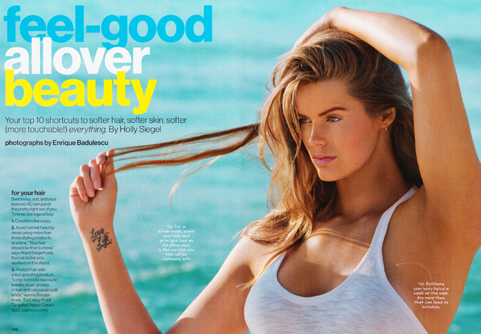 Robyn Lawley in Glamour Magazine, July 2012